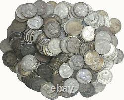 $100 Face Value Bag 90% Silver Franklin Half Dollars Full Dates