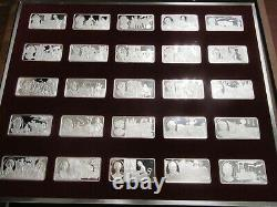 100 Greatest Americans Proof Set Franklin Mint Sterling Silver -Missing 1 (#78)
