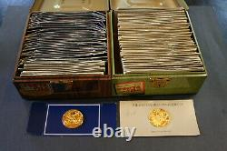 100 Greatest Masterpieces 24k Gold on Sterling Silver Coins and Wood Chest