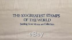 100 Greatest Stamps of the World Sterling Silver Miniature Collection