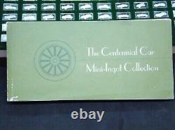 100 pc Franklin Mint 1975 SILVER Mini Ingot CENTENNIAL CAR COLLECTION #CF