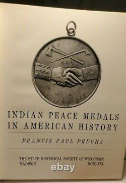 10 Ozs SILVER Mescalero APACHE Turnabout INDIAN PEACE MEDAL M=350 + Prucha Book