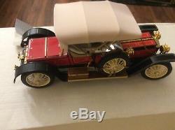 124 Franklin Mint 1910 Rolls Royce Silver Ghost Balloon Roadster B11XN60