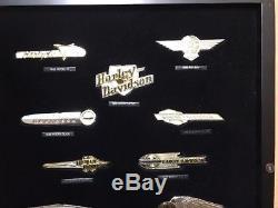 12 Silver & Gold Harley Davidson Tank Insignia Badges Set Franklin Mint Complete