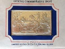 132 OZ SILVER Franklin Mint Bicentennial Counsel 13 Original States Proof