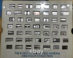 142 Sterling Silver Mini-ingot 1976 Franklin Mint Un Flag Set Collection Unused