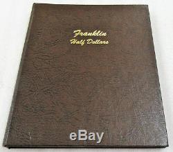 1948-1963 FRANKLIN HALF DOLLAR Complete Set of 35 Silver Halves in Dansco Album
