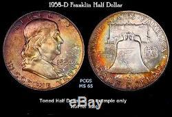 1950 Franklin Mint Proof set Lot of (5) Beautiful Premium True color Toned 42010