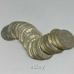 1963 AU/BU Franklin Half Dollar $10 Face Value 90% Silver Roll 20 Coin Lot