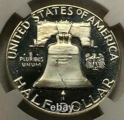 1963 NGC PF67 Ultra Cameo Silver Proof Franklin Half Dollar Extreme Grade 50c