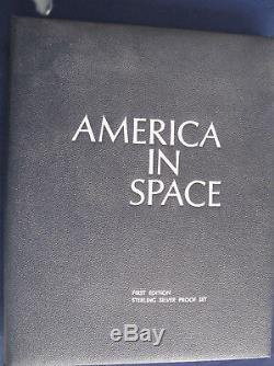 1970 America in Space First Edition Set of 24 Medals Silver Franklin Mint E5441