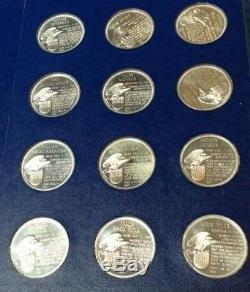 1970 FRANKLIN MINTTREASURY of PRESIDENTIAL MEDALS36 COIN SILVER SETAMEX EDIT