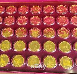 1970 Franklin Mint 52ozt Sterling Silver Gold Plated 50 States Governors Edition