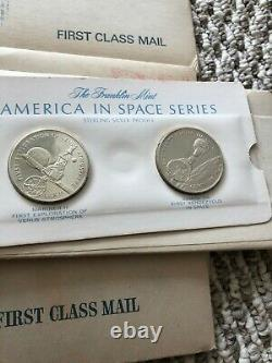 1970 Franklin Mint America In Space First Edition 24 Sterling Proof Set Sealed