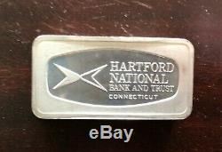 1970 Franklin Mint Bank Marked 50 State Sterling Proof Set Silver Ingots W Box