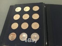 1970 Franklin Mint Book of 36 Presidential Commemorative Silver Medals FREE SH