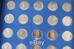 1970 Franklin Mint President Coin Collection 39 Sterling Silver Coins SET (NICE)