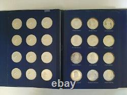 1970 Franklin Mint Treasury Of Presidential Commemorative Silver Medals 37.5 Oz