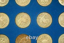 1970 Franklin Mint Treasury Zodiac Medals Silver Proof COA M-343