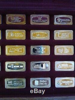 1970 Franklin mint ingots 50 silver bank bars 1000gr sterling 107.5 Troy ounces