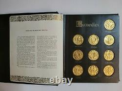 1971-1974 Franklin Mint Gold On Sterling Silver 38 Shakespeare Medals 47.5 Ozt