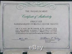 1971 Franklin Mint 50 State Bank Ingots- Complete Set 104 Ozs Sterling Silver
