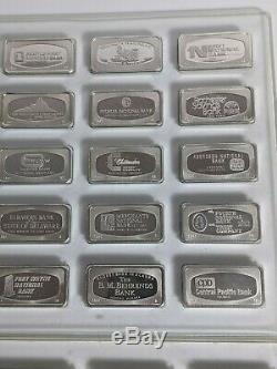1971 Franklin Mint Bank Marked Complete Set of Sterling Silver Ingots 50 States