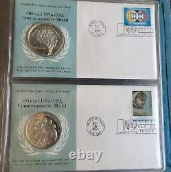 1971 Franklin Mint First Day Covers Sterling Silver