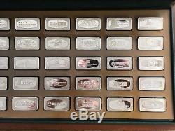 1972 Franklin Mint Bank Marked 50 States Complete Set of Sterling Silver Ingots