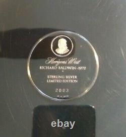 1972 Franklin Mint HORIZONS WEST By Richard Baldwin Sterling Silver Plate In Box