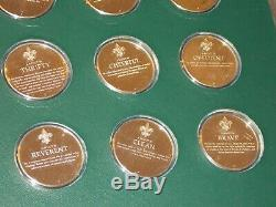 1972 Franklin Mint Norman Rockwells Spirit Of Scouting Sterling Silver Coin Set