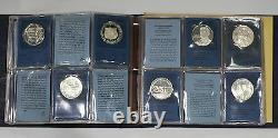1972 Franklin Mint Special Commemorative Silver Medals First Edition Full 36
