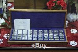 1972 Franklin Mint Sterling Silver Bank Set 50 X 2 Oz Bars Ships Fast