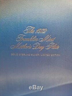 1972 Franklin Mint Sterling Silver Irene Spencer 8 Mother's Day Plate in Box