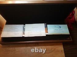 1973 Franklin Mint Bankmarked Silver Ingot Set (50)1000 Grain Sterling ingots