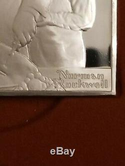1973 Norman Rockwell Fondest Memories 35oz of Silver Bars 1st Edition Proof Set