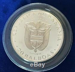 1973 Simon Bolivar Republic Of Panama 20 Balboas Coin ASW 3.8538 troy ounces