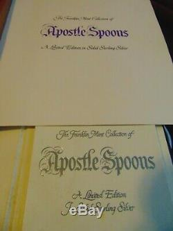 1973 Sterling Silver Apostle Spoons, 13 spoons in original box, with paperwork