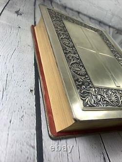 1974 Catholic Franklin Mint Sterling Silver FAMILY BIBLE with Illustrations