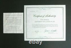 1974 University of Illinois plate sterling silver and 24kt gold Franklin Mint