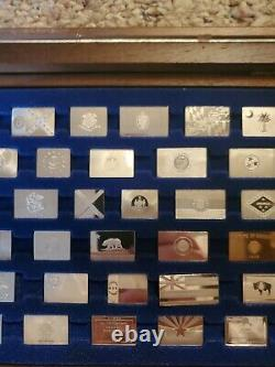 1975 Franklin Mint Flags of the States Complete Set of Sterling Silver Ingots