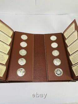 1975 Franklin Mint Medallic History American Indian First Ed 50 Sterling Silver