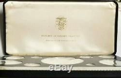 1975 Republic of Panama Franklin Mint 9 Coin Proof Set Sterling Silver