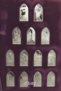 1975 Sterling Silver Books Of The Bible 39 Sculptured Tablet Complete Proof Set