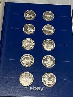 1976 The Fifty-State Bicentennial Medal Collection 50OZ Sterling Silver COA