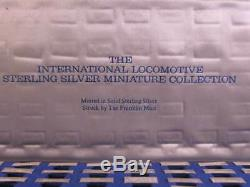 1977 International Locomotive Sterling Silver Miniature Collection 50 Bars