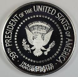 1977 Jimmy Carter 6.435.999ozt Proof Silver Inaugural Medal-Franklin Mint