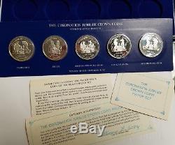 1978 Coronation Jubilee Crowns Sterling Silver Proof 5 Coin Set Franklin Mint