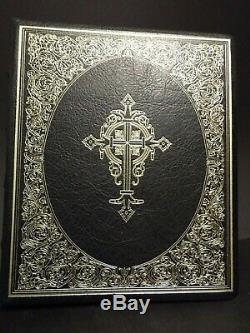 1978 The Silver Bible by the Franklin Mint, Full Leather Binding- 57 ounces