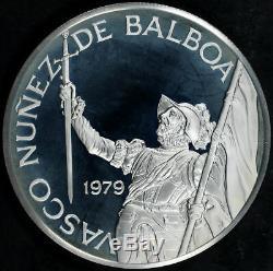 1979 Franklin Mint Republic of Panama Proof 20 Balboas 5 oz. 925 Silver Round